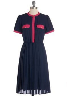 Baking Biz Dress. Can you still be called a baker, even if youre preparing the financial paperwork? #blue #modcloth