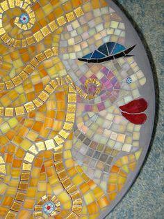 "Bowl ""fairy hair"" detail by Herzstücke Mosaic Masks, via Flickr"