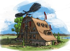 Perspective Training - Eagle Tavern by SkavenZverov on deviantART