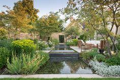 Cottage Garden Design, Home And Garden, Landscape Architecture, Landscape Design, Pool Water Features, Contemporary Garden Design, Cedar Homes, Outdoor Cafe, Terrace Garden
