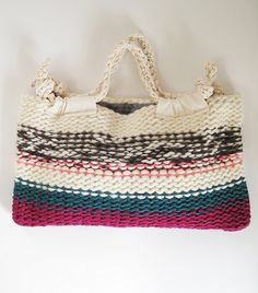 KNIT BAG STELLA / WOOL/ROSEPINK MIX by eccomin, via Flickr