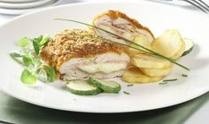 Kurací Cordon Bleu z rúry Serbian Recipes, Serbian Food, Good Food, Yummy Food, Chicken Cordon Bleu, Lunches And Dinners, Easy Dinner Recipes, Food Photography, Food And Drink