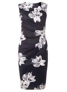 NEW BLACK FLORAL DRESS, SIZE 14UK, DOROTHY PERKINS, BNWT, RRP £45 #DorothyPerkins #BodyconDress #AnyOccasion