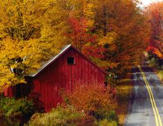 old barn and beautiful fall colors