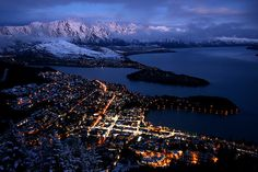 Queenstown, the Remarkables, and Lake Wakatipu, New Zealand