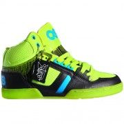 Go retro with Osiris NYC 83 Shoes - Lime Cyan Black @ Blackleaf.com