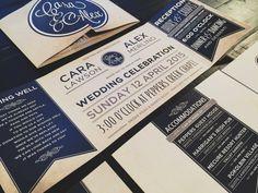 Custom Fold Wedding Invitation: Australian by TheDesignBrewery