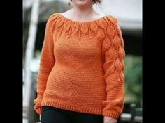 (18) crochet sueter hojas 2019 - YouTube Crochet Poncho, Crochet Cardigan, Irish Crochet, Crochet Hooks, Knit Crochet, Sweater Knitting Patterns, Crochet Patterns, Crochet Clothes, Diy Clothes