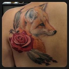 #1session #tattoo #tattoos #tatuaje #tattooed #tattooer #Tatuador #tatuagem #tattooer #tatuaggi #tattooart #tattooist #tatuaggio #tattootime #tattoofresh #Tätowierung #tattooartist #deadcrush #tattoo_artwork #tattoo_body_art #fox #tattoofox #foxtattoo #лиса #rose #rosetattoo #feather #feathertattoo #realistictattoo #realism #tattoo3000
