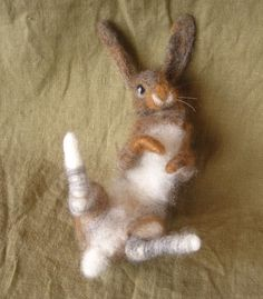 Needle Felted Rabbit made just for you by Ainigmati on Etsy, $125.00