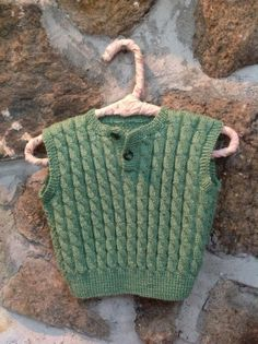 Grass Green Hand Knitted Washable Merino Baby Cable by sugartogs, $48.00