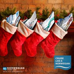 Our stockings have been hung by the chimney with care... In hopes that our guests will soon be there! We hear that Santa is on his way, so come on by and don't delay.