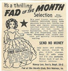 1950s ad: Fad of the Month