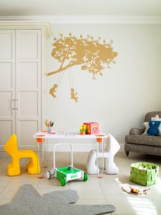 I decked out my daughters playroom with some Magis Mee Too Playroom furniture and a great wall decal which everyone seems to love - kids and adults alike.