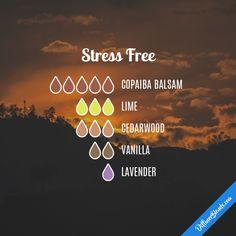 Stress Free - Essential Oil Diffuser Blend