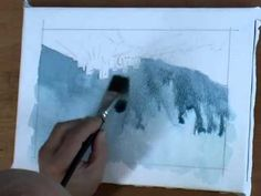 how to paint a stormy, atmospheric sky with watercolors. the video includes a fantastic technique for putting clouds in the sky with a clean brush
