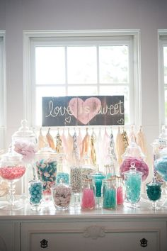 15 unique wedding ideas - Candy buffet at the wedding reception.