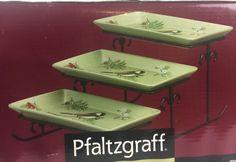 Pfaltzgraff Winterwood 3 step buffet server plate tiered NEW NIB Fast Shipping  | eBay