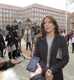 Crown Princess Mary of Denmark visits a school with her Mary Foundation 3/6/2014