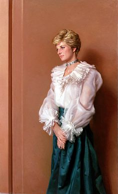 Diana was painted by Nelson Shanks in 1994. The Princess loved it so much she hung it in her apartment at Kensington Palace. It is now in the possession of her brother Earl Spencer and hangs in Althorpe.