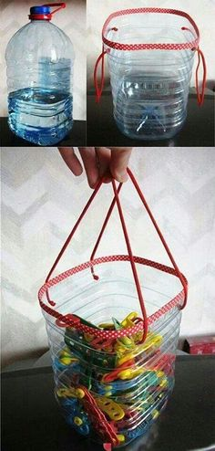 Clothes Pins Bag From Plastic Water