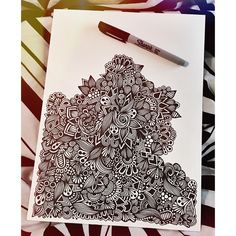 this is taking a lot longer than expected #WIP #zentangle #zenspire #blynndesigns #sharpie