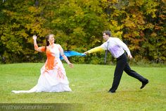 Trash the dress with paint