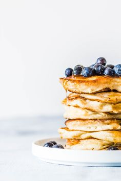Baked Pancakes, Pancakes Easy, Pancakes And Waffles, Greek Donuts, Smoothie Bowl, Sweet Bread, Kitchen Recipes, Food Inspiration, Tapas