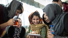 Afghanistan--young women journalists participate in 'Sahar Speaks' training program in Kabul. March, 2016.