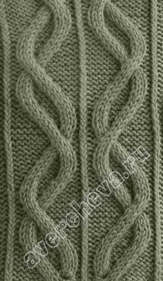 вязание кос схема | каталог вязаных спицами узоров