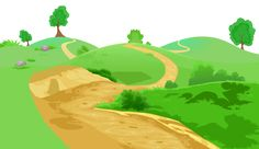 Grass and Pathway Transparent PNG Clip Art Image