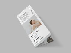 Free US Letter bi-fold leaflet mockup with ability to customize it to your needs.