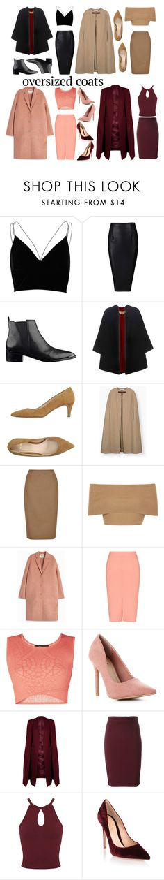 """""""oversized coats"""" by veronikachristensen ❤ liked on Polyvore featuring River Island, Burberry, Aller Paris, Hobbs, Blue Vanilla, Acne Studios, T By Alexander Wang, BCBGMAXAZRIA, WithChic and Miss Selfridge"""