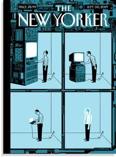The New Yorker cover, September 2019 by Christoph Niemann The New Yorker, New Yorker Covers, Gig Poster, Print Magazine, Magazine Art, Magazine Covers, Christoph Niemann, Singer Songwriter, Illustrator