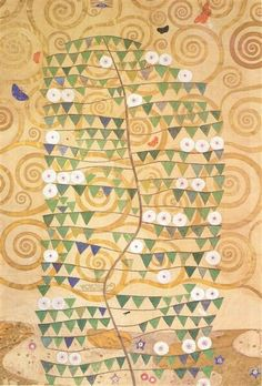 Cartoon For The Frieze Of The Villa Stoclet In Brussels: Right Part Of The Tree Of Life 1909   Gustav Klimt