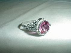 edwardian victorian sterling ring pink by qualityvintagejewels, $88.00