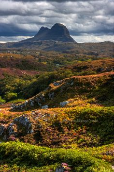 Suilven from the Stoer to Lochinver road, Assynt. North West Highlands.  Scotland.  (copyright:  Barbara R Jones)