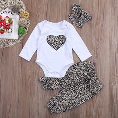 TheRang Newborn Baby Boy Girl Feather T Shirt Tops Striped Pants Clothes Outfits Set