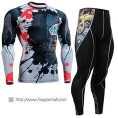 #FIXGEAR #Compression Base Layer Long Sleeve #Shirts & #Pants Set, model no CFL/P2L-B44-SET, Skin Tights and Advanced Performance Fabric. ( #AeroFIX ) #Workout #Fitness #Crossfit #Training #MMA #Jujitsu #Yoga #Rashguard