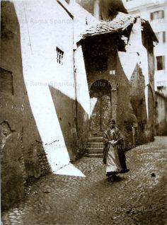 Foto storiche di Roma - Vicolo della Luce
