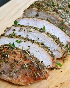 Low FODMAP Herb-crusted pork fillet    http://www.ibssano.com/low_fodmap_recipes_herb_crusted_pork_fillets.html