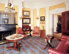 Greek Revival row house Edward Shaw designed for Adam and Mary Greek Revival Architecture, Interior Architecture, Interior Design, Greek Revival Home, Victorian Interiors, Architrave, Plantation Homes, Scenic Design, Reception Rooms