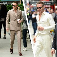 Chris Pine Just Wore Everything You Should Wear This Summer—In One Day Sharp Dressed Man, Well Dressed Men, Punk Fashion, Fashion Outfits, Lolita Fashion, Fashion Boots, Mens Tailored Suits, Moda Formal, Designer Suits For Men