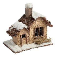 Nantucket Home Christmas Village Snowy Holiday Home with Chimney -- Unbelievable  item right here! : Decor Collectible Buildings and Accessories