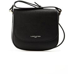 Lancaster Adele Mini Messenger Bag in Black ($94) ❤ liked on Polyvore featuring bags, messenger bags, black, mini bag, courier bag, lancaster bags and mini zip bags