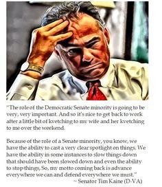 Senator Tim Kaine on the Democrat Senate Minority