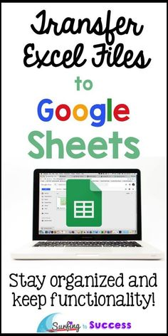 Have you wondered about turning your Excel files into Google Sheets? Don't worry, the process is quick and painless. Get your data organized in Google. Google Docs, Classroom Organization, Classroom Management, Classroom Ideas, Classroom Activities, Google Drive, Teacher Resources, Teaching Ideas, Teacher Tips