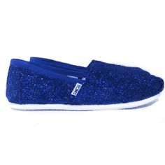 Women s sparkly Glitter Toms Royal Blue wedding bride gift shoes www. glittershoeco.com Glitter. Glitter Shoe Co 2868d3e9e