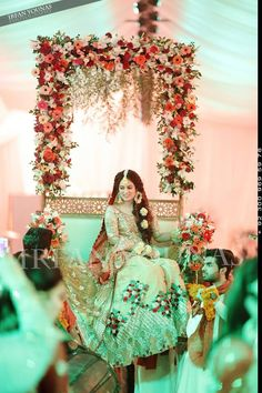 Perfect for mehndi function Pakistani Wedding Outfits, Pakistani Wedding Dresses, Pakistani Bridal, Indian Bridal, Wedding Attire, Bridal Dresses, Desi Bride, Desi Wedding, Wedding Bride
