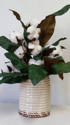 2nd. Anniversary gift Cotton arrangement Cotton centerpiece